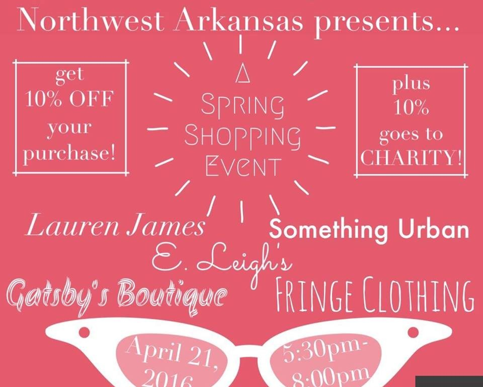 Shopping Event Spring 2016 Washington County